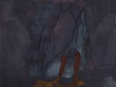 Black Skin, White Masks, 2015. Akryl, olie, pigment på lærred. 200 x 200 cm.