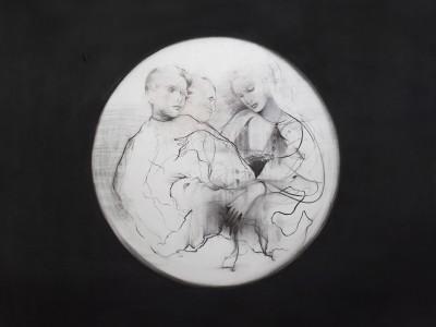 Kenosis, 2015. Kul, pastel på papir.